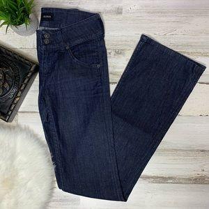 Hudson bootcut jeans size 25 dark wash mid rise